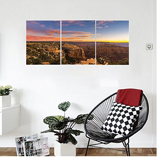 Liguo88 Custom canvas House Decor Sunrise in Steep Sided Grand Canyon with Hazy Sky in Contrast Creation of Nature Wall Hanging for Bedroom Living Room (Quart Flat Sided Stainless Steel)
