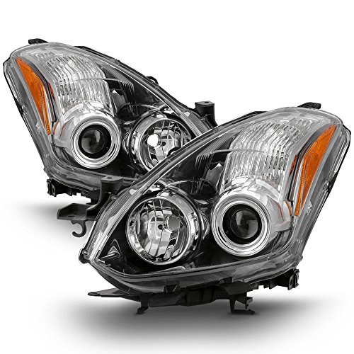 ACANII - For 2010 2011 2012 2013 Altima 2Dr Coupe Halogen Protector Headlights Headlamps Driver + Passenger Side