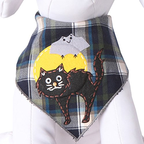Tail Trends Halloween Dog Bandanas with Scary Cat