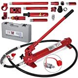 Mophorn 10 Ton Porta Power Kit 2M Hydraulic Porta Power Jack 78.7' Hose Length Hydraulic Ram Body Frame Repair Power Set Auto Tool for Automotive, Truck, Farm and Hydraulic Equipment/Construction