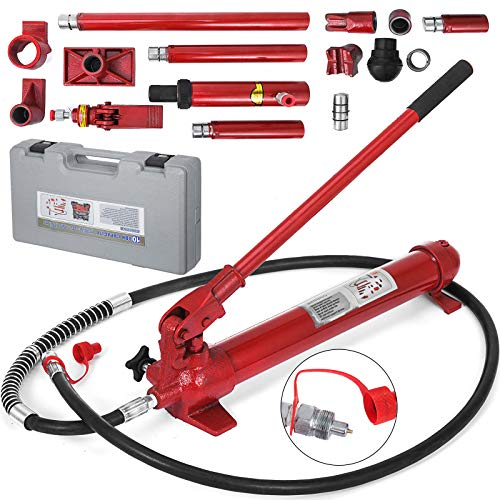 Mophorn 10 Ton Porta Power Kit 2M Hydraulic Ram Porta Power Jack 78.7