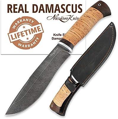 Cuchillo de Damasco - Cuchillo Ruso - Acero Real de Damasco ...