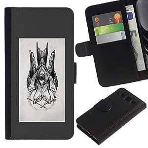 Supergiant (Sketch Grey Drawing Ink Pencil Black) Dibujo PU billetera de cuero Funda Case Caso de la piel de la bolsa protectora Para SAMSUNG Galaxy S3 III / i9300 / i747