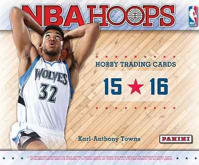 2015/16 Panini Hoops Official NBA Basketball Cards Hobby Box - 24 packs of 12 cards (Nba Hobby Box)