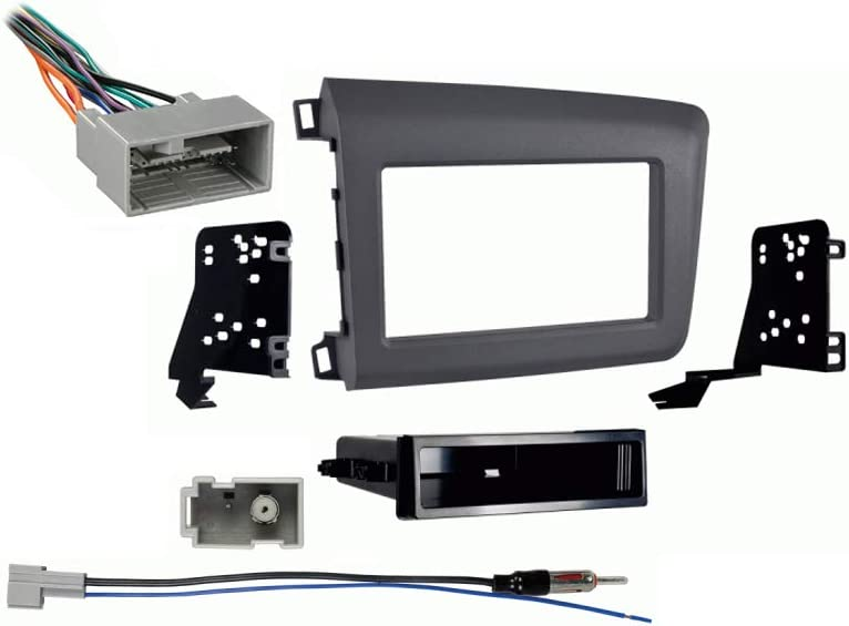 amazon.com: compatible with honda civic 2012 single din aftermarket stereo  harness radio install dash kit: car electronics  amazon.com
