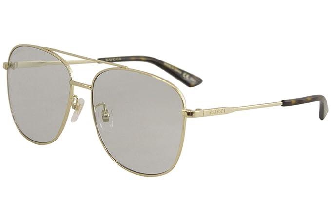Gucci Gafas de sol unisex GG0410SK dorado/azul: Amazon.es ...