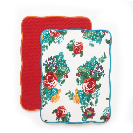 The Pioneer Woman Country Garden Reversible Dish Drying Mat, 2pk Variation