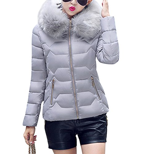 gris Larga Abrigo para Mujer Misschicy Manga XTRxFdFn