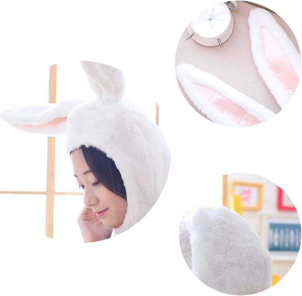 Cuteboom Rabbit Hat Eastern Bunny Hat Bunny Ears Funny Party Hats Holiday Hat Cute Costume for Men and Women (Pink): Clothing