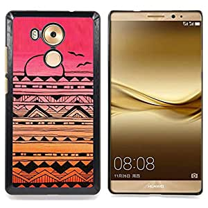 - Indian native American pattern pink sunset - - Modelo de la piel protectora de la cubierta del caso FOR Huawei Mate 8 RetroCandy
