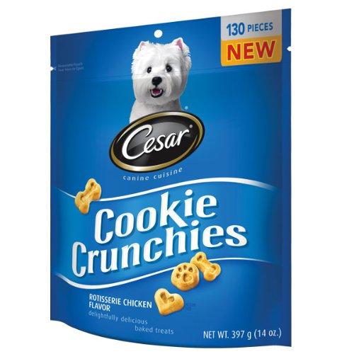 Cesar Crunchie Cookies Rotisserie Chicken Flavor 14 Oz., My Pet Supplies