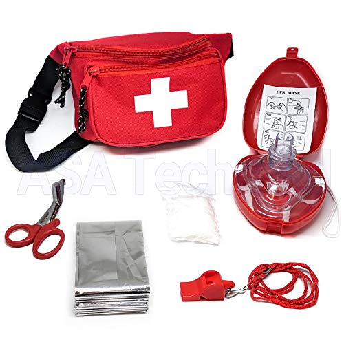 ASATechmed Lifeguard Kit Baywatch Style 6pcs, Compact for Emergency at Home, Outdoors, Car, Camping, Workplace, Hiking & Survival.]()