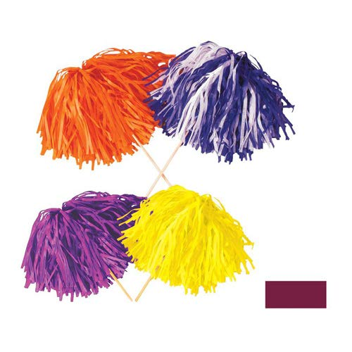 FR Maroon Tissue Shaker - 320 Strand (Order in Solid or 2-Color Combination) Party Accessory  (1 count)