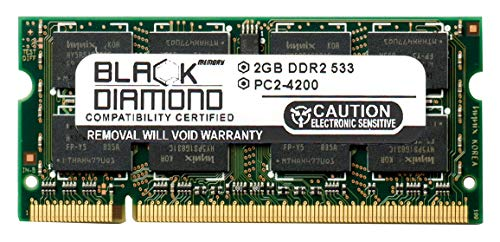 (2GB RAM Memory for Samsung R Series R65 Black Diamond Memory Module DDR2 SO-DIMM 200pin PC2-4200 533MHz Upgrade)