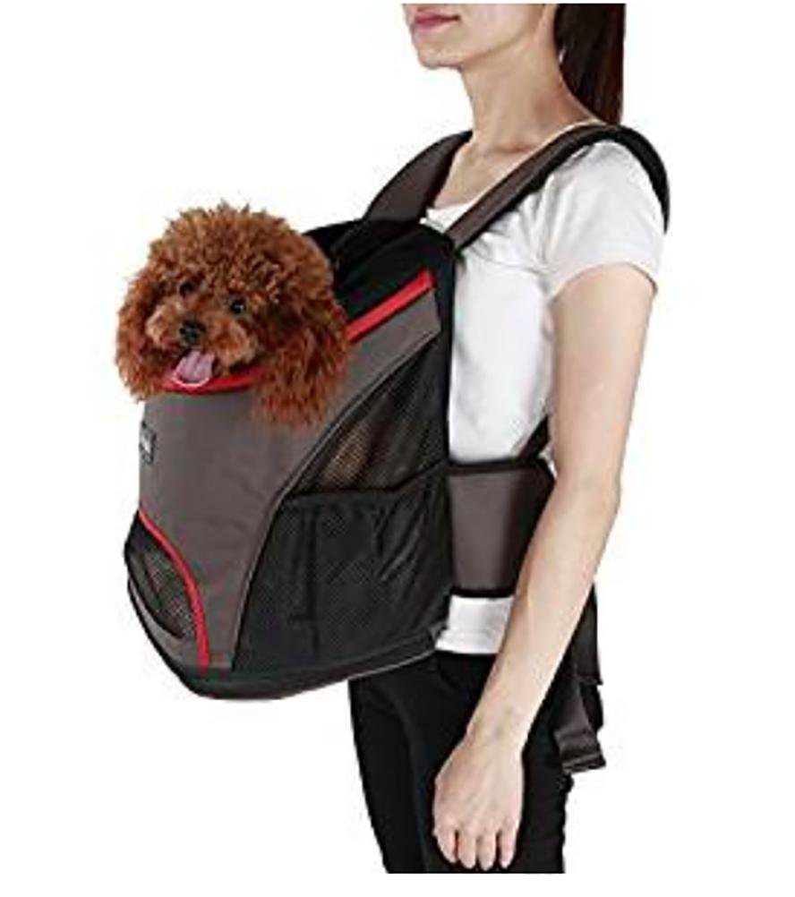 LOHUA Pet Carrier Backpack, Breathable Mesh Soft-sided Front Pouch Dog Carrier Backpack Pet Shoulder Bag Outdoor Travel by LOHUA (Image #1)