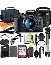 $549 » Canon EOS Rebel T7 DSLR Camera 24.1MP Sensor with EF-S 18-55mm Lens, SanDisk 32GB Memory Card, Case, Tripod and ZeeTech Accessory (Black 20pc Bundle)