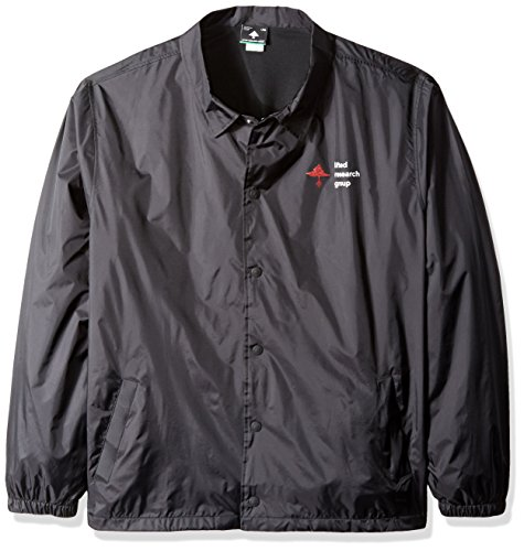 LRG Men's Big and Tall Research Collection Old Tree Coach Jacket, Black, 4XL