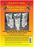 Genuine Rum Runner® Cruise Kit 3 32oz and 3 8oz Flasks Plus a Funnel