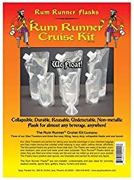 Genuine Rum Runner Cruise Kit 3 32oz and 3 8oz Flasks Plus a Funnel