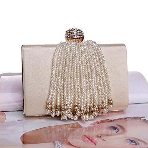 color americano europeo Pearl De Elegante bolso noche Pearl de dama bolso y vestido De bolso albaricoque de banquete Albaricoque Color YqZqCwB