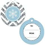 Big Dot of Happiness Winter Wonderland - Snowflake Holiday Party & Winter Wedding Favor Gift Tags (Set of 20)