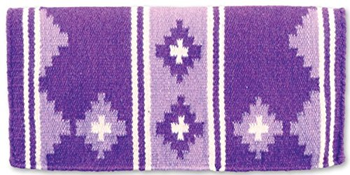 mayatex-apache-pony-saddle-blanket-soft-purple-lavender-cream-24-x-24-inch