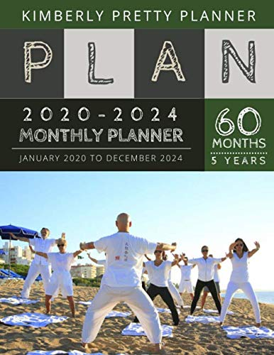 5 year monthly planner 2020-2024: 2020-2024 yearly and monthly planner to plan your short to long term goal with username and password record page | kungfu boy design (Best Self Defense Insurance 2019)