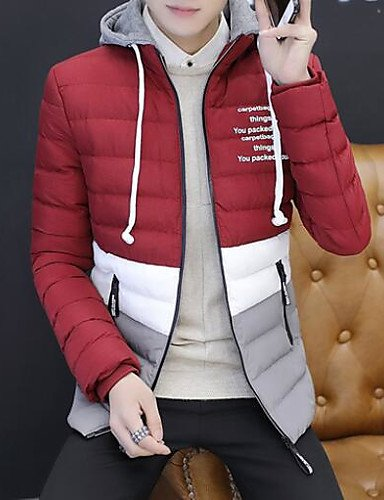 DGVFGBD Long Men's Solid Simple Casual Sleeves Letter Daily Coat Cotton Cotton Padded Black rrgWnSf