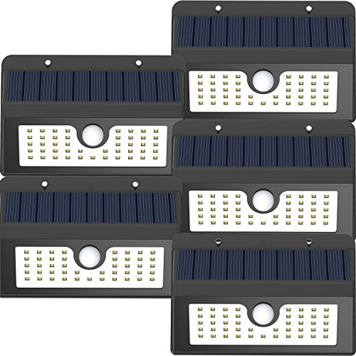 Metal Detector Sensor (45 LED Solar Light, Magictec Super Bright Solar Motion Sensor Light Weatherproof Solar Lights Outdoor Wireless Solar Motion Security Light Solar Light Solar Sensor Light Metal Detector, 5 Pack)