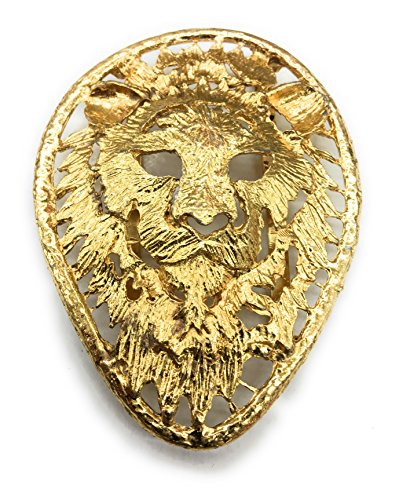 Designer Lion Belt Buckle for Women Plated 14 kt. Gold Hammered design 2-1/2