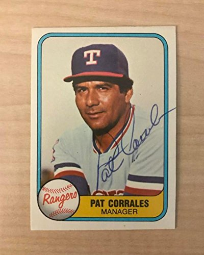 PAT CORRALES TEXAS RANGERS SIGNED AUTOGRAPHED 1981 FLEER CARD #623 W/COA