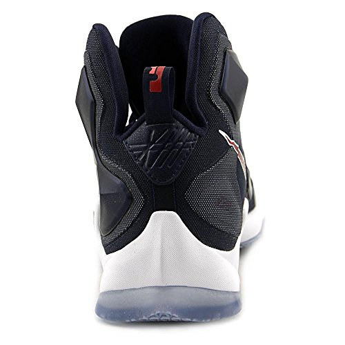 Zapatillas De Baloncesto Nike Para Hombre Lebron Xiii Mid Nvy / Unvrsty Rd-white-bright - 9.5 D (m) Us