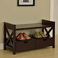 K and B Furniture Crossway Entryway Bench