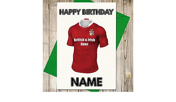 British y Irish Lions Rugby camiseta Tarjeta de cumpleaños ...