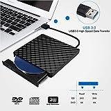 External CD Drive, USB 3.0 Slim External CD DVD ROM Drive Writer Reader Burner, DORISO 100% New Core High Speed Data Transfer External DVD Drive for Laptop Mac PC MacOSX Notebook Vista Windows7/8/10