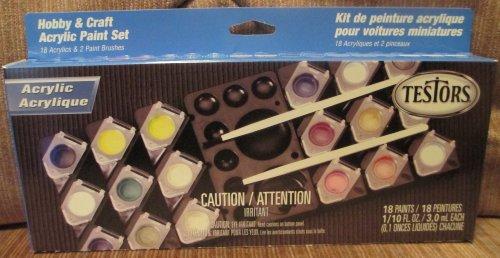#9186 Testors Model Car/Hobby and Craft Acrylic Paint Set,18 Paints