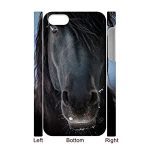 T-TGL(RQ) Personalized Horse Pattern Protective Hard Case for Iphone 4/4S 3D