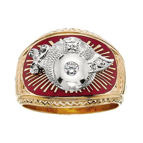 Shriner Ring With Diamond