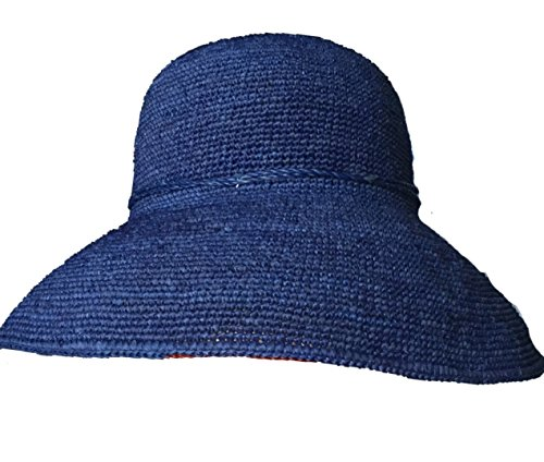 Norahats Packable 3 Inch Wide Brim Summer Raffia Hat Handmade For Great Sun Protection