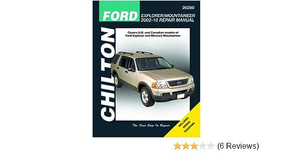Chilton Ford Explorer and Mercury Mountaneer 2002-2010 Repair Manual (26280)