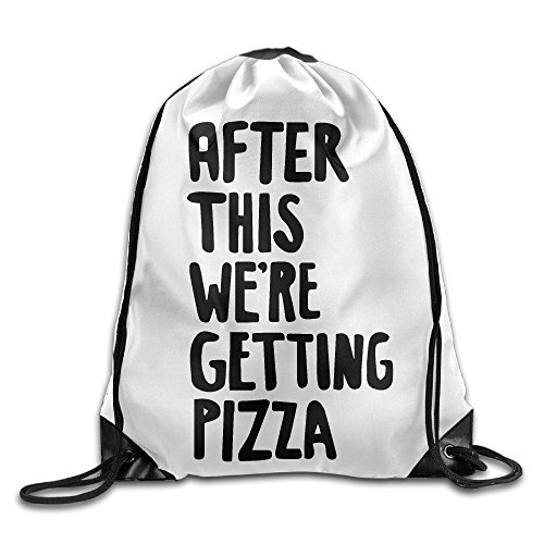 Unisex Bag After This We're Getting Pizza Drawstring Backpack by Philip Wolf (Image #1)