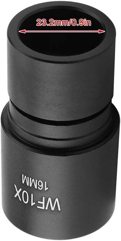 DM-R001 WF10X 16mm Eyepiece with Scale 0.1mm for Biological Microscope Ocular Mounting 23.2mm Pbzydu Microscope Eyepiece