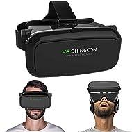 3d Imax VR casque de réalité virtuelle 3d VR Lunettes pour Samsung iPhone 4~ 15,2cm pouces smartphones Google Carton pour 3d Films et jeux, permettant à tout le monde d'une expérience 3d Immersive, sangle réglable (Noir)
