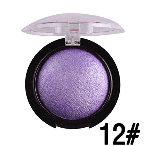 Shimmer Baked Eyeshadow Powder, Lotus.flower Women Hot Sale Baking Powder Makeup Series Gleaming Eye Shadow Professional Cosmetics (12#)