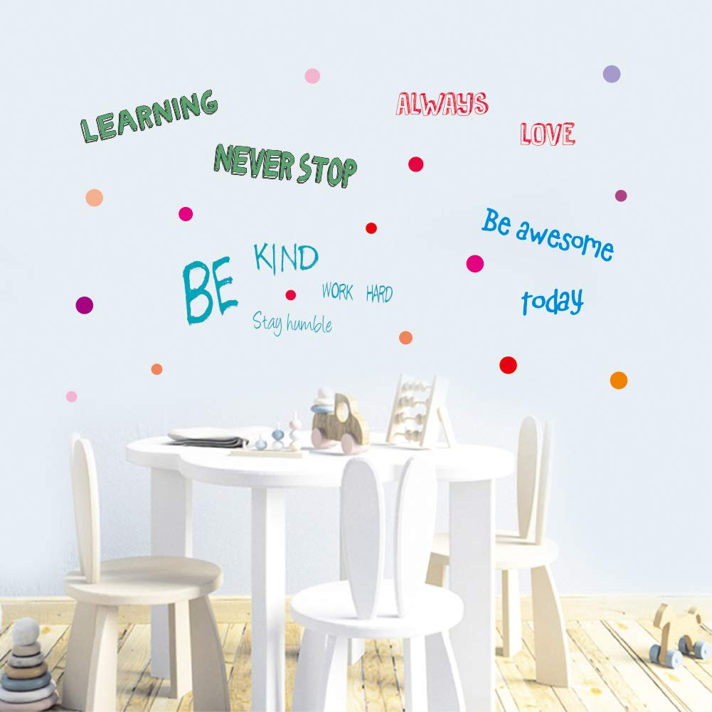 Inspirational Quotes Wall Decal 3 Sheet Multicolor Decals Positive Sayings Window Cling Decor And Classroom Decor