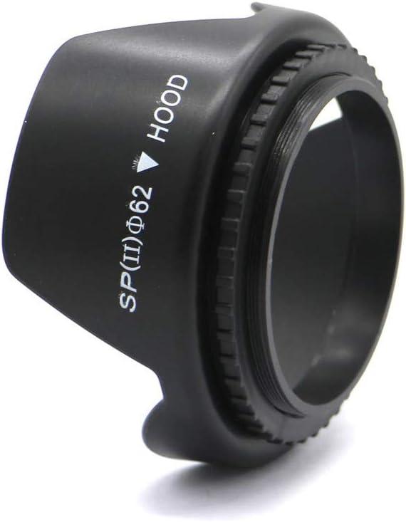Olympus Nikon Panasonic 62mm Petal-Shaped Lens Hood Suitable for Canon Sony FujiFilm Sigma,Tamron Digital Cameras etc All Types of Camera Lenses of The Same Diameter Lens Hood Pentax