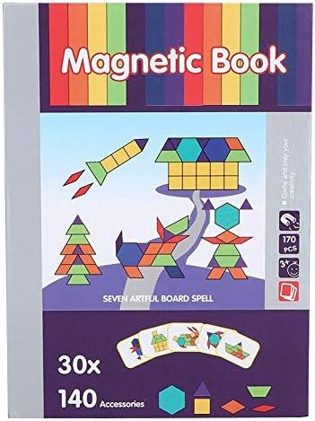 Zerodis Magnetische Puzzle Spielzeug Kinder Früherziehung Bild Dress Up Magnet Buch Spaß Puzzle magnetische Aufkleber Puzzle Spielzeug (Tangram Thema)(Tangram-Thema)