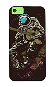 (140a6692363)durable Protection Case Cover With Design For Iphone 5c(astronaut Playing To Guitar On A Meteor ) by kobestar