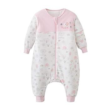 Saco de dormir Xiuyun algodón para bebés Primavera y otoño para bebés Anti-Kick para niños (Color : Pink, Tamaño : 83 * 38cm): Amazon.es: Hogar