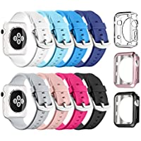 Apple Watch Sport Band 38mm 42mm, UMTELE Soft Silicone Replacement iWatch Bands Sport Strap with Buckle Clasp for Apple Watch Sport, Series 2, Series 1